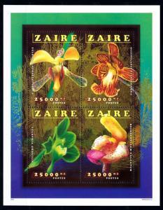 [66918] Zaire 1996 Flora Flowers Blumen Orchids Sheet MNH