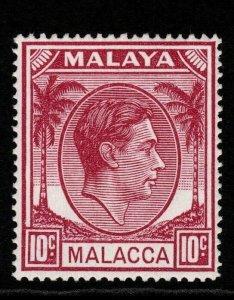 MALAYA MALACCA SG9 1949 10c PURPLE MNH