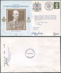 CDM2a RAF COMMANDERS SERIES Frederick Sykes Signed by Gp Capt G J Oxlee (A)