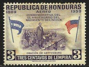 Honduras Air Mail 1959 Scott# C291 MH (thin)