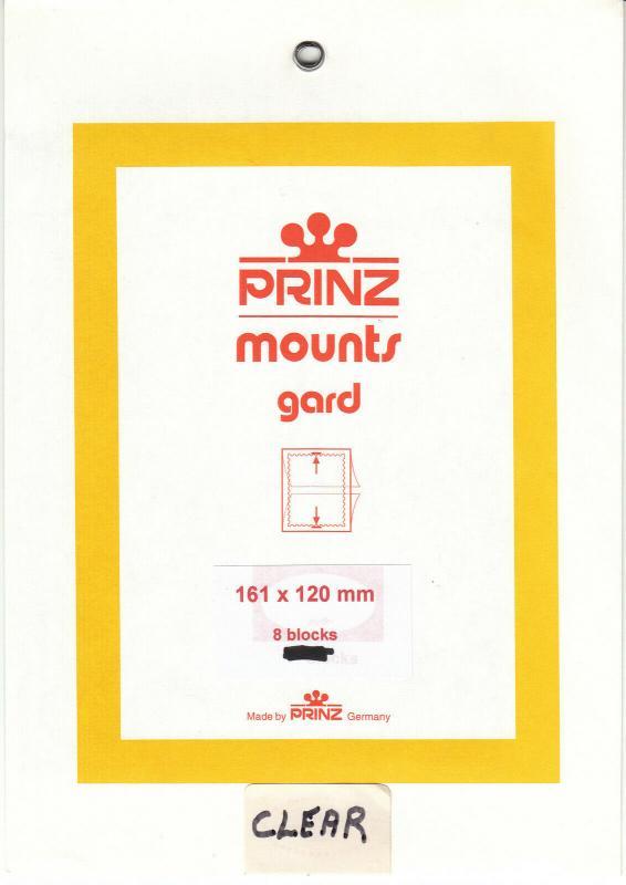 PRINZ CLEAR MOUNTS 160X120 (8) RETAIL PRICE $10.50