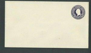 Ca 1917 U436A 3c Dark Violet On White Mint Entire Die 143 Size 10