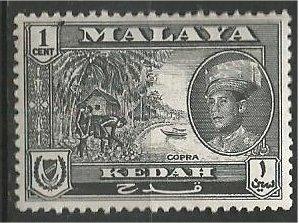 KEDAH, 1957, MNH 1c, Copra Scott 83