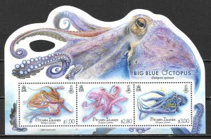 Pitcairn Islands 848 Big Blue Octopus s.s. MNH (lib)
