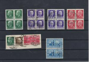 Italy Used Stamps Blocks +on Piece Ref: R7399