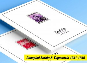 COLOR PRINTED OCCUPIED SERBIA +  YUGOSLAVIA 1941-1945 STAMP ALBUM PAGES (23 pgs)