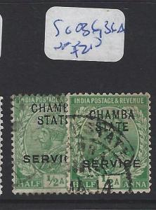 INDIA CHAMBA  (P2509B)  KGV 1/2A SERVICE SG O36, 36A   VFU