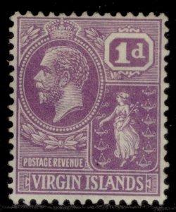 BRITISH VIRGIN ISLANDS GV SG88, 1d bright violet, M MINT.