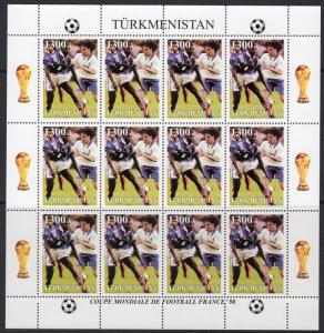 Turkmenistan 1998 World Cup Football 1998 France 6 Mini-Sheetlets of 12 values