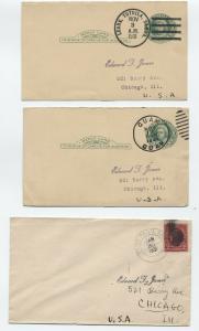 3 1931 possessions markings - Guam, Samoa [y4098]