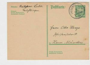 germany 1925 ireuchtingen   stamps card ref r13594