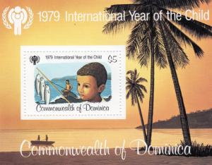 Dominica 1979 Sc#617 Year of the Child (ICY)/Fishes S/S (1) MNH