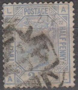 Great Britain #82 Plate 22 Used CV $40.00 (B10603)