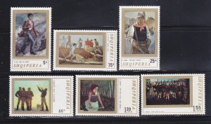 Albania 1388-1393 Set MNH Art, Paintings (B)