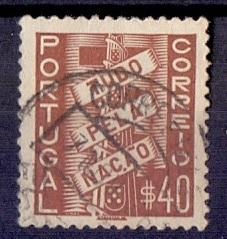 Portugal  used  1935 all for the nation 40c.    #