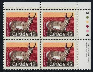 Canada 1172 TR Plate Block  MNH Pronghorn