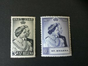 St Helena 1948, Royal Silver Wedding, Very lightly mounted, Mint