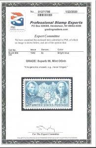 906 Mint,OG,NH... PSE Graded Superb 98... SMQ $110.00... Only 3 graded higher