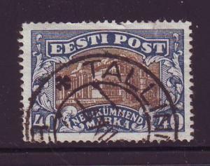 Estonia Sc 83 1927 Vanemuine Theatre Tartu stamp used