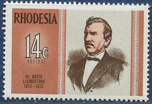 Rhodesia sg 480 MNH 1973 14c Dr David Livingstone