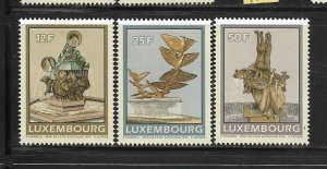 LUXEMBOURG,838-840, MINT HINGED, 1990 ISSUE O F FOUNTAINS
