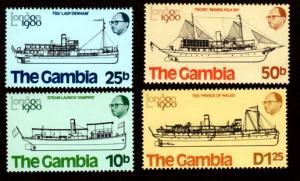 Gambia MNH 408-11 Ships 1980 SCV 1.75