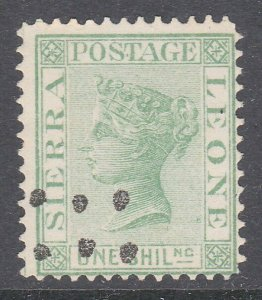 SIERRA LEONE  An old forgery of a classic stamp.............................C786