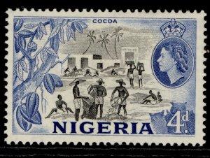 NIGERIA QEII SG72, 4d black & blue, VLH MINT.