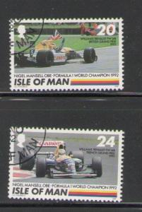 Isle of Man Sc 529-0 1992 Nigel Mansell stamps used