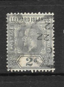 LEEWARD ISLANDS 1912-22   2d    KGV    FU   SG 49