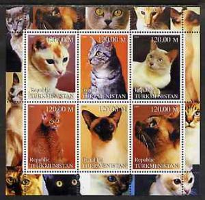 TURKMENISTAN SHEET DOMESTIC CATS
