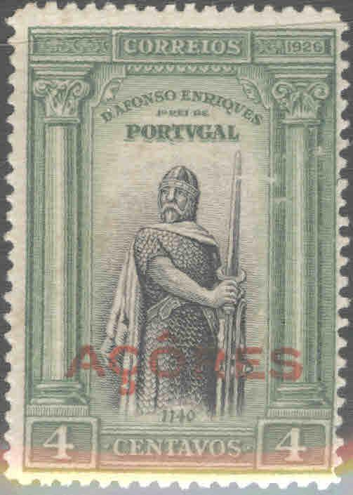 Azores Scott 260 MH* from 1926 First Independence issue