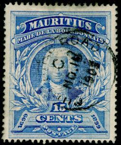 MAURITIUS SG136, 15c ultramarine, used, CDS.