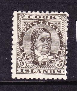 COOK  ISLANDS 1893-1900  5d    MAKEA  MLH  P12x11 1/2  SG 9