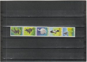 Denmark  Scott#  823  MNH Strip of 5  (1986 National Bird Candidates)