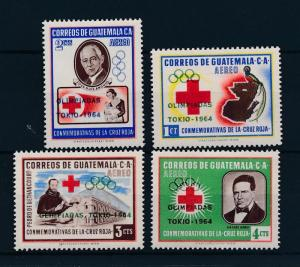 [44314] Guatemala 1964 Olympic games Tokyo Red Cross Overprint MNH