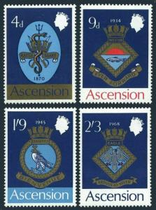 Ascension 126-129,129a,MNH.Michel 126-129,Bl.1 Naval Arms 1969.Eagle,Snake,Fish.