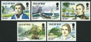 Isle Of Man MNH 389-93 The Mutiny On The Bounty 1989