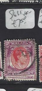 SINGAPORE (PP0502B)  KGVI  40C   SG 11   VFU