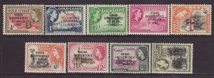 1957 Ghana Independence Set 9 Values to 10/- Mounted Mint Between SG170/181