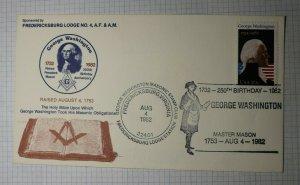 George Washington Birthday Masonic Stamp Club Fredricksburg VA 1982 Sc# 1952