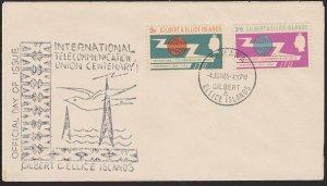 GILBERT & ELLICE IS 1965 ICY set on commem FDC - Tarawa cds.................5979