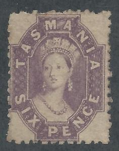 TASMANIA 1871 QV CHALON 6D PERF 11.5