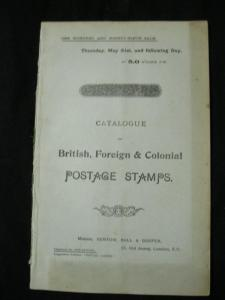 VENTOM BULL & COOPER AUCTION CATALOGUE MAY 1903 with ASIA BSA FISCALS OCEANIA...