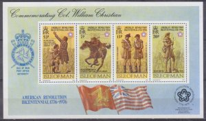1976 Isle of Man 74-77/B2 200 years of independence for America