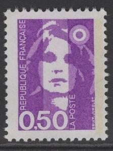 FRANCE SG2909 1990 50c REDDISH VIOLET MNH