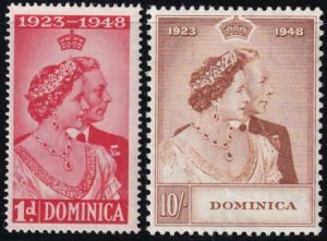 Dominica 1948 SC 114-115 MLH Set