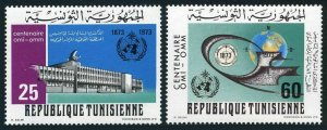 Tunisia 620-621,MNH.Mi 824-825. Meteorological cooperation,100,1973.Institute.