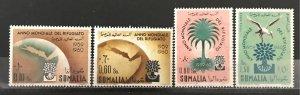 Somalia 1960 #239-41,C67 World Refugee Year, MNH, CV $1.65