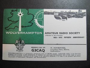 10543 Amateur Radio QSL Card WOLVERHAMPTON ENGLAND